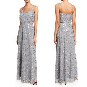 Wayf Savannah Blouson Embellished Gown Dress Small